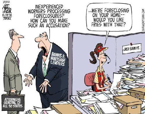 Robo-Signing Cartoon Humor