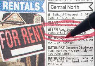 rentals in newspaper