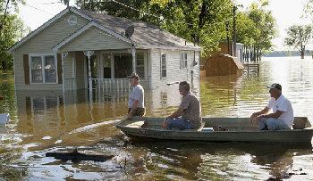 Flood waters in Memphis