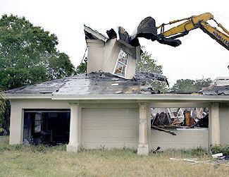 home demolishing