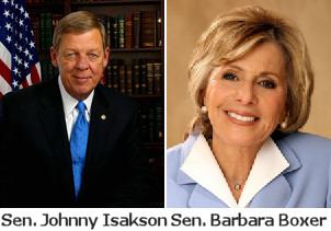 Johnny Isakson and Barbara Boxer