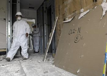 contaminated drywall