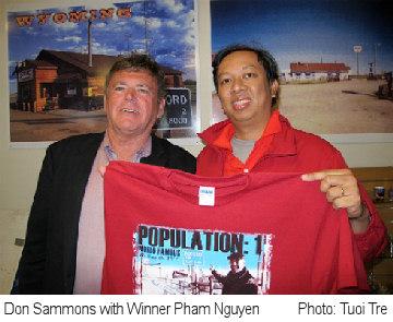 Don Sammons with Winner Phan Nguyen