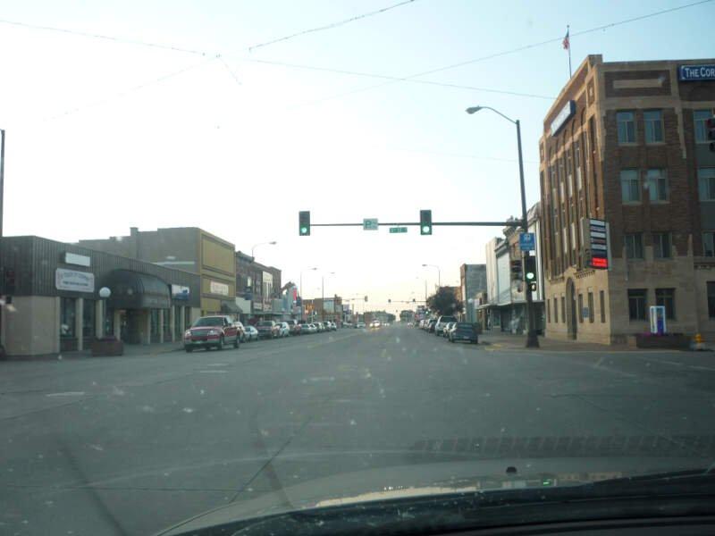 highway with street light